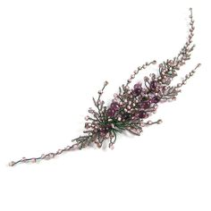 Check out this item in my Etsy shop https://www.etsy.com/listing/462728642/purple-heather-wedding-hair-accessories