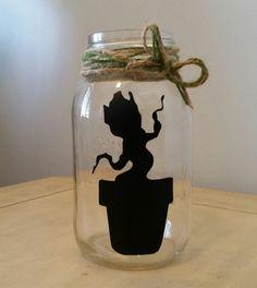Dancing baby Groot mason Jar! https://www.etsy.com/listing/199426049/dancing-baby-groot-i-am-groot-guardians