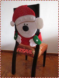 VENTA DE MUÑECOS NAVIDEÑOS FRISAVIL: CUBRESILLAS NAVIDEÑAS Elf On The Shelf, Teddy Bear, Holiday Decor, Christmas, Pink, Angeles, Home Decor, Embellishments, Creativity