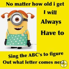 "These ""Top Minions Cute Quotes"" are especially for you that will make you laugh and happy for whole day. So scroll down and keep reading these ""Top Minions Cute Quotes"" and get a funny and hilarious day from it. Funny Minion Pictures, Funny Minion Memes, Crazy Funny Memes, Minions Quotes, Really Funny Memes, Funny Facts, Haha Funny, Hilarious, Funny Images"