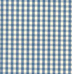 Chelsea Check Fabric Blue and cream small gingham check fabric, suitable for curtains and upholstery.