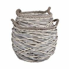 grey wicker storage baskets from zara home - gorgeous!