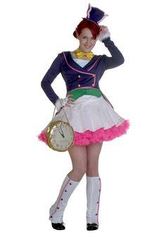 Teen White Bunny Girl Costume
