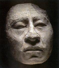 Mexico. Palenque stucco mask