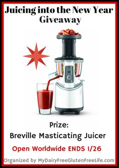 Win a Breville Masticating Slow Juicer Open world wide (outside of US receives Paypal)  ends 1/26/15