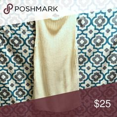 Sleeveless Sweater Tunic Worn once! No trades, swaps or off-posh transactions, no exceptions! Measurements can be provided upon request. Any item in my closet $10 and under can be bundled for free with any purchase of $10 or more, just ask when purchasing! All bundles save 30%! Please feel free to make an offer so the price is right! Happy poshing! Forever 21 Sweaters Cowl & Turtlenecks