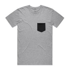 Shop the 5010 Staple Pocket Tee, a short sleeve blank t-shirt with a contrast colour pocket. It is regular fit, mid weight and features a plain crew neck, it is constructed from combed cotton Blank T Shirts, Contrast, Crew Neck, Pocket, Tees, Mens Tops, Cotton, Shopping, Fashion
