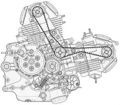design fiction 001 engine and toyota rh pinterest com ducati st2 engine diagram ducati 748 engine diagram