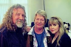 Robert Plant on July 7, 2015 with his sister Alison and Stevie Nicks