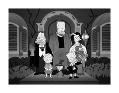 the Simpsons Treehouse of Horror XI opening sequence of the parody/homage to the classic television show