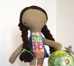 Ethnic Doll Cloth Brown Skin Tone Braids by sewfaithful on Etsy