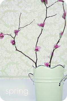 diy:  tissue paper blossom...