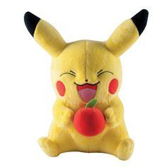 Peluche Pikachu avec une pomme Pokémon
