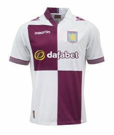 The Aston Villa Home Shirt is claret with sky blue sleeves 68d002a1b7f5a