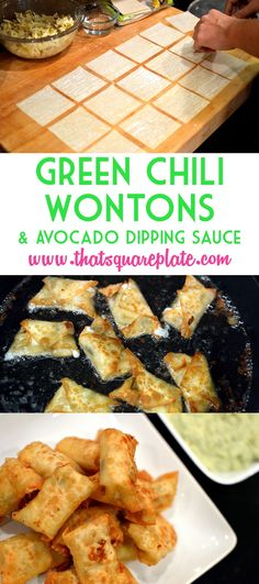 This recipe is one of our favorites of all-time. These originated from a restaurant in Louisville called the Bristol Bar & Grill. The mix of Monterrey jack cheese, green chilis, & jalapenos are mixed and fried in a wonton wrapper. The avocado based dip is a perfect complement to the wontons. From www.thatsquareplate.com.