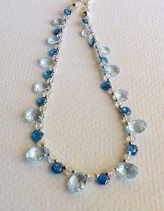 Jewelry Handmade Neckalce London Blue Sky Blue and by Smokeylady54