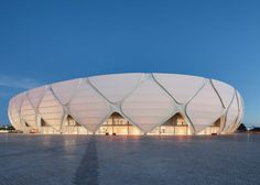 Manaus stadium by GMP Arkitechten hosts four World Cup football matches.