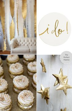 The Perfect Palette: Good as Gold | Unique Wedding Ideas http://www.theperfectpalette.com/2013/12/good-as-gold-unique-wedding-ideas.html