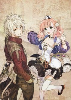 Atelier Escha & Logy: Alchemists of the Dusk Sky Art - Logy & Escha