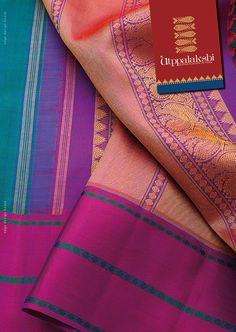 Mini temple border, ruthraksh, graceful peacocks and a heavenly combination of the three shades - emerald green, purple and aristocratic pink- work like a charm in this dazzling six-yard saree just waiting to be draped.#Utppalakshi #Sareeoftheday#Silksaree#Kancheevaramsilksaree#Kanchipuramsilks #Ethinc#Indian #traditional #dress#wedding #silk #saree#craftsmanship #weaving#Chennai #boutique #vibrant#exquisit #pure #weddingsaree#sareedesign #colorful #elite