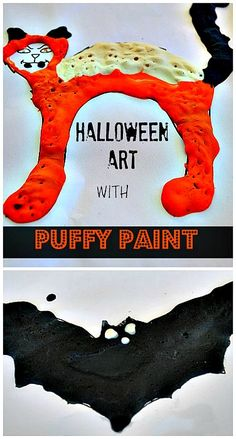 Halloween art projects : Create puffy Halloween creatures. #halloweenactivities