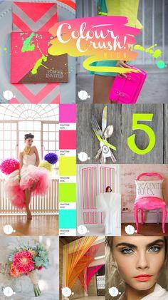 Paperknots 'Colour Crush Chronicles' #neon #wedding ideas