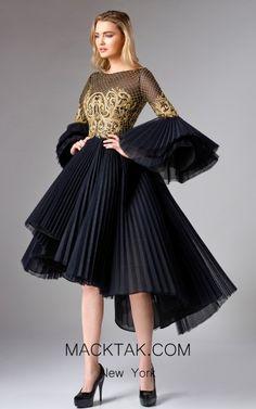 Edward Arsouni Black Gold Front Dress Source by Dressy Dresses, Elegant Dresses, Beautiful Dresses, Nice Dresses, Short Dresses, Club Dresses, Ladies Dress Design, Dream Dress, Couture Fashion