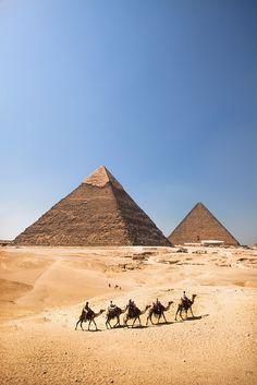 'The Pyramids', Egypt, Giza, Pyramids by WanderingtheWorld (www.LostManProject.com), via Flickr