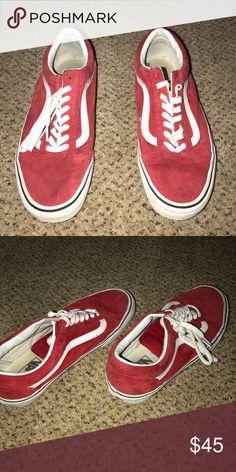 642e3ee14fe6 Women s Red Low top Vans Size 9 Red Low top Vans Vans Shoes Sneakers Red Low
