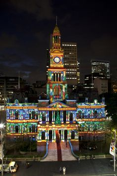 One of Sydney's most historical building dressed in Christmas Lights Aussie Christmas, Australian Christmas, Christmas In The City, Christmas Scenes, Christmas Town, Christmas 2014, Icicle Christmas Lights, Christmas In Australia, Religion