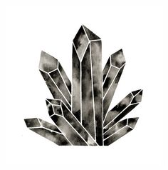 Large Crystal Print Poster . Quartz Cluster by GeometricInk