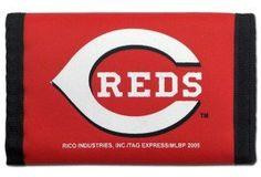Cincinnati Reds Nylon Trifold Wallet