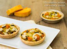 Crostatine salate con verza e zucca ricetta vegana