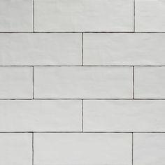 Handmade White Matt Natura Wall Subway Tiles 396×130 in Stretcher Bond Design