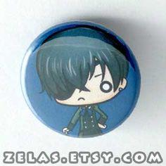 Chibi Anime Button: Black Butler - Ciel