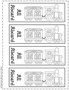 All Aboard the Polar Express Bookmarks by First Grade Schoolhouse. FREE!!! download.