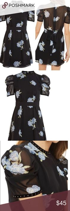 TOPSHOP FLORAL DRESS New with tags. Size 4US. No trades. Topshop Dresses