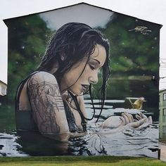 Fabulous Street art illusions by Mantra Rea.|CutPaste Studio| Art Artist Artwork Entertainment Street art Murals Beautiful Illustration Painting Graffiti art