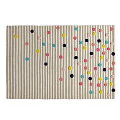 Sprinkled Stripes Rug    The Land of Nod
