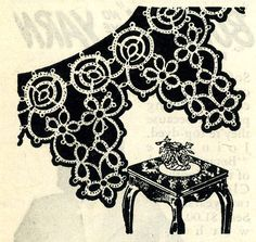 Vintage Tatting PATTERN PDF File 4710 Tatted Point Edging from 1940s Workbasket Instant Download