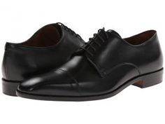 Massimo Matteo 5-Eye Cap Toe (Black) Men's Lace Up Wing Tip Shoes