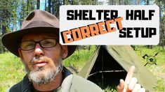 In this video I show the propper way to set up the surpluss military canvas pup tent, shelter half.