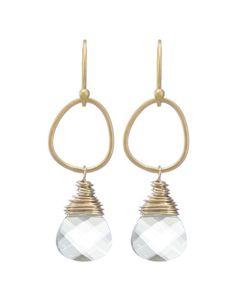 Moonrise Jewelry - Giza Earrings- Clear