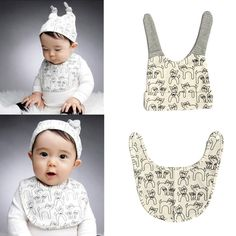 """http://fashiongarments.biz/products/baby-kids-hat-capwater-resistance-towel-saliva-lunch-bibs-cotton-scarf/,    Todddler Baby Infant Cat Pattern Hat Cap+Towel Saliva Lunch Bibs Cotton Scarf   Description:  Material:Cotton cloth  Color:Beige. Gray  Hat SIze:  Circumference: 36-48cm/14.4-19.2""""(adjustable)  High:14CM/5.6""""  Bib Size:20X15cm/8""""""""X6″(appr.)  Size: Suit for 3-18 Months  Package included: 1 Pcs Infant Cap+ Towel ...,   , clothing store with free shipping worldwide,   US $3.57, US…"""