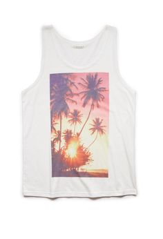 Tropic Sunset Tank | 21 MEN #GraphicTee #SummerForever #21Men