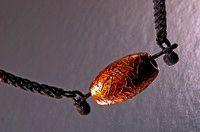 HORSEHAIR NECKLACE (UMA-NO KE / horshair weaving; KIN-KAWA-NURI / gold-foil coating)
