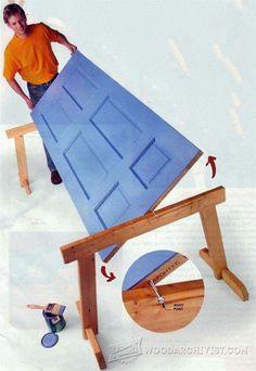 Learn Woodworking Door Painting Jig - Finishing Tips and Techniques - Woodwork, Woodworking, Woodworking Tips, Woodworking Techniques Learn Woodworking, Woodworking Techniques, Easy Woodworking Projects, Popular Woodworking, Woodworking Videos, Woodworking Furniture, Diy Wood Projects, Woodworking Tools, Woodworking Jigsaw