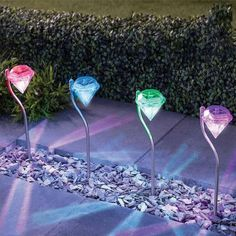 3 LED Waterproof Solar Light Lamp For Wall Stair Garden Pathway Outdoor Lighting. With efficient solar panel, Solar Powered Garden Lights, Solar Garden Stakes, Led Garden Lights, Lawn Lights, Garden Lamps, Party Lights, Night Lights, Pathway Lighting, Outdoor Lighting