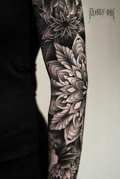 Mandala tattoo by Family Ink #sleevetattoo #blackwork