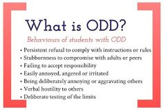 Creative / Chaos: Oppositional Defiant Disorder: Strategies to support ODD students in the classroom